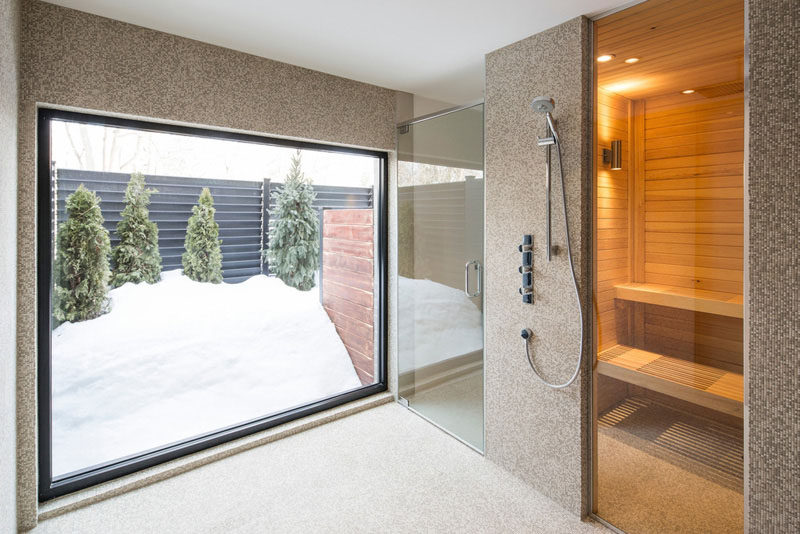 Bathroom Design Idea - Create a Spa-Like Bathroom At Home // Include a steam room or sauna.