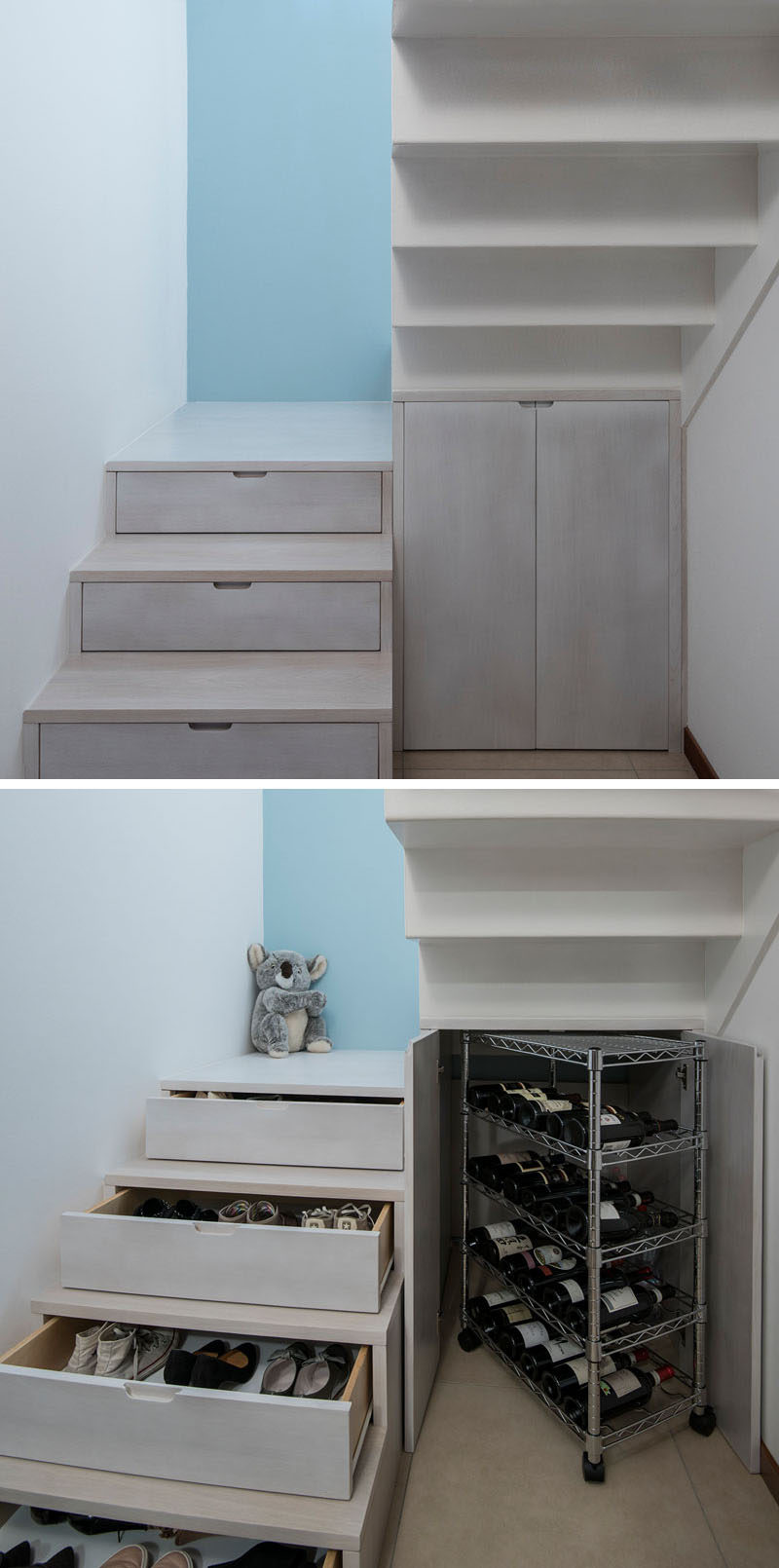 Stairs Design Idea  Hide Shoe And Wine Storage Within