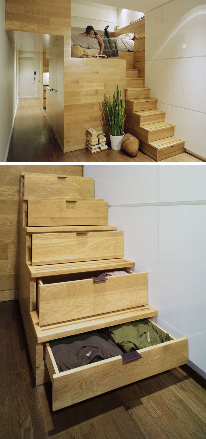 13 Stair Design Ideas For Small Spaces | Loft Stairs For Small Spaces | Child Friendly | Studio Apartment Minimalist | Corner | Steel | Loft Staircase
