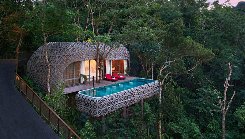 Travel Idea This Resort Is Surrounded By Trees And Was