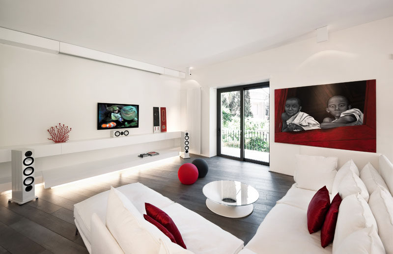 tv wall mount designs for small living room paint colors with brown couch 8 design ideas your contemporist the and sound