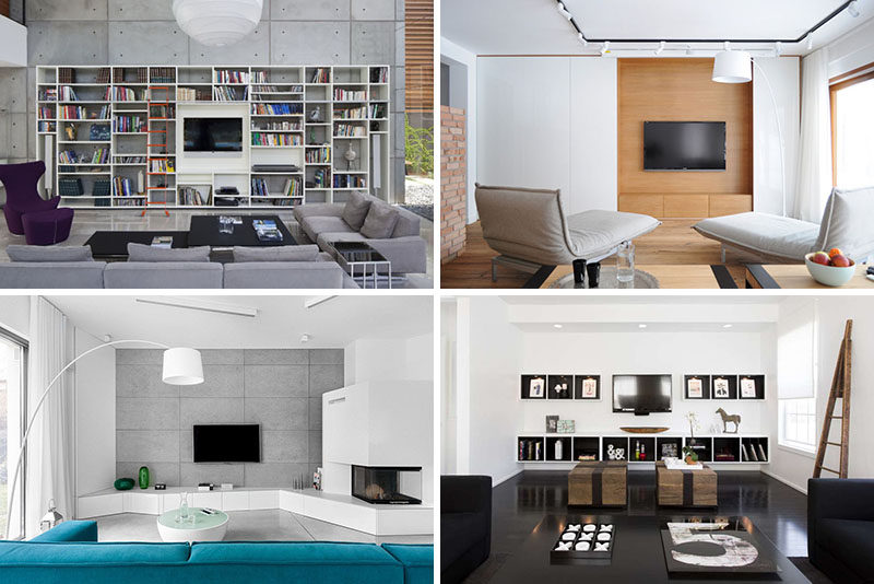 living room package with tv swivel glider chairs 8 wall design ideas for your contemporist