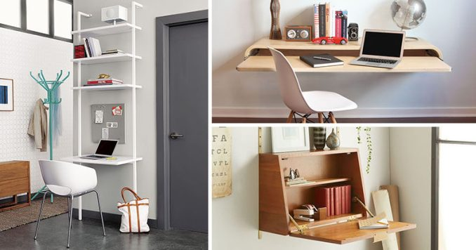 16 Wall Desk Ideas That Are Great For Small Spaces