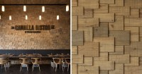 The Walls Of This Restaurant Are Covered In Wood Shingles ...