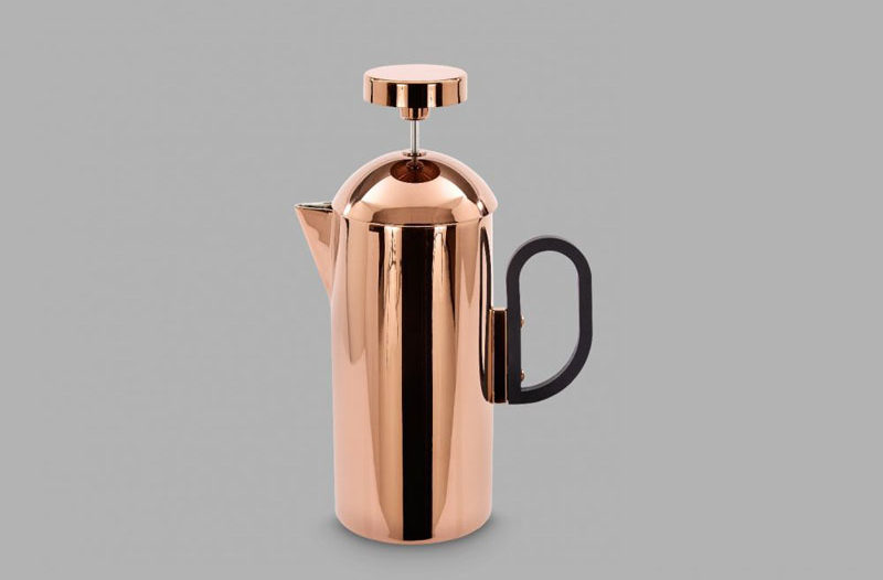 17 Modern Coffee Makers That You'll Want To Show Off // Not only will the coffee inside this French press help wake you up, the metallic finish will also brighten your morning and make it easier to start your day.