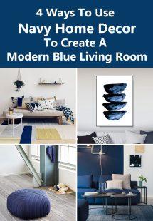 Navy Blue Living Room Home Decor