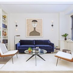 Blue Modern Living Room Caribbean Inspired Rooms 4 Ways To Use Navy Home Decor Create A