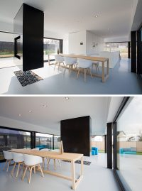 Interior Design Ideas - A suspended TV wall and room ...