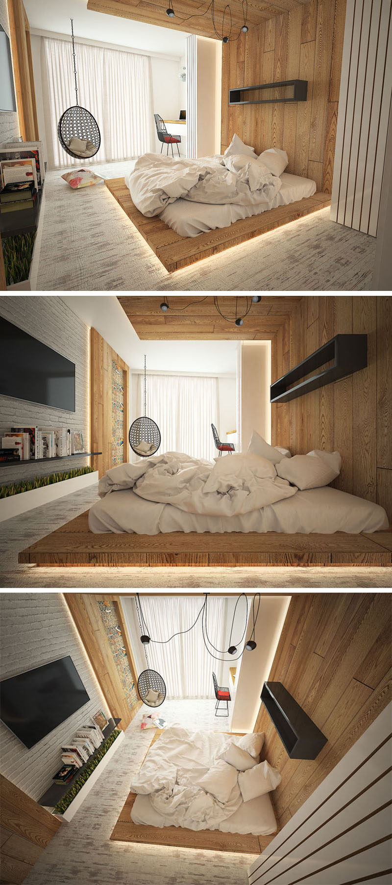 Highlight Your Bed With A FloorToCeiling Headboard And