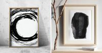 Wall Art Ideas ? 14 Ideas For Black And White Abstract ...
