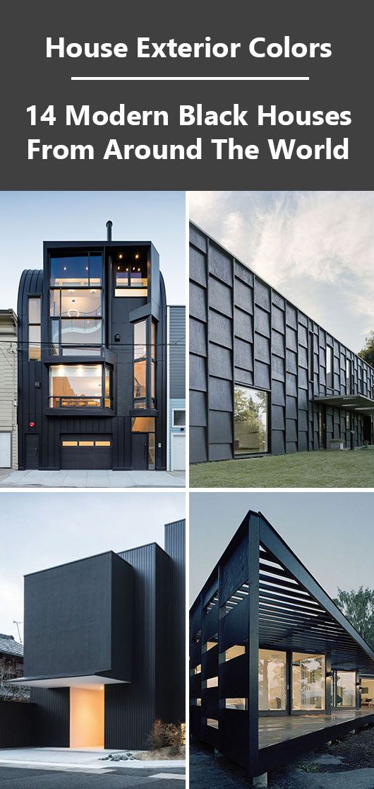 House Exterior Colors – 14 Modern Black Houses From Around