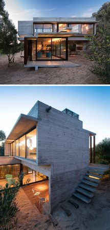 Concrete Beach Houses Exterior