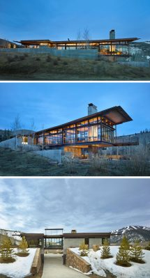 Industrial Modern Mountain House Designs