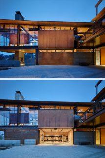 Industrial Modern Mountain House
