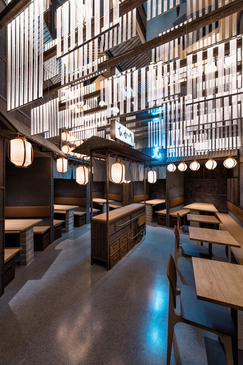 Industrial Interior Design  This Restaurant and bar goes