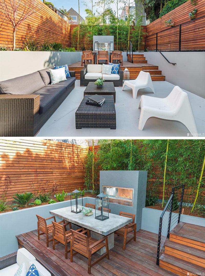 Backyard Design Idea  Use Multiple Levels To Define