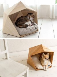 These geometric pet beds are an ideal resting spot for ...