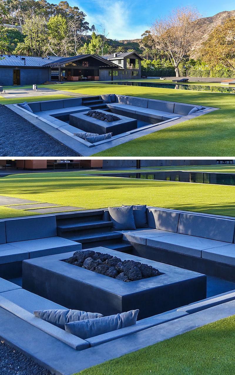 Modern Backyard Design Ideas - Create A Sunken Fire Pit For Entertaining Friends