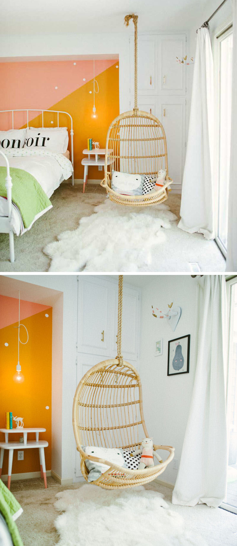 land of nod high chair doll rail beadboard paneling cute bedroom decorating ideas for modern girls | contemporist