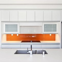 White Kitchen Backsplash Design Showrooms Ideas 9 For A Adding Pop Of Color To An All In The Form Colorful Is Great Way Make Statement And Inject Some Fun Into Your Space