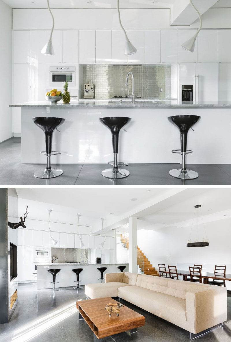 white kitchen backsplash rear travel trailers design ideas 9 for a add some shine to your with metallic it ll fun touch the and help brighten up by reflecting light in