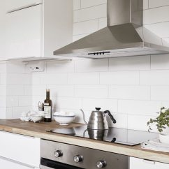 White Kitchen Backsplash Complete Cabinets Design Ideas 9 For A Add Texture With