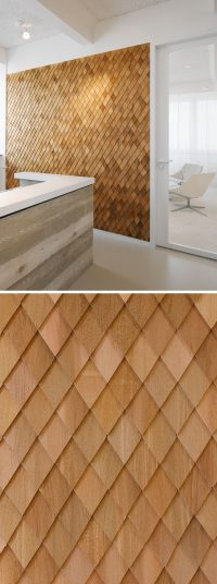 Using Wood Shingles To Create An Accent Wall Adds Warmth