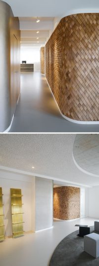 Using Wood Shingles To Create An Accent Wall Adds Warmth ...
