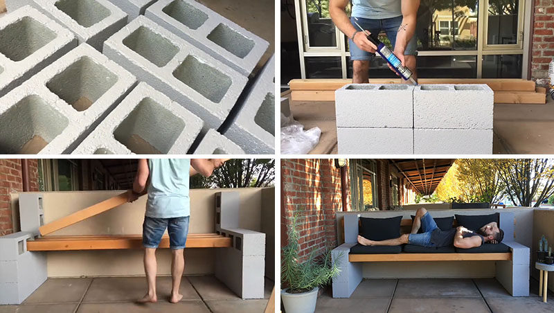 heres a video tutorial that shows you how to make your own inexpensive diy outdoor bench