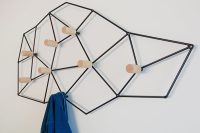 This Geometric Coat Rack Could Also Double As Wall Art ...