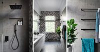 Matte Black Accents Add Sophistication To This Grey And ...