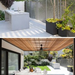 Modern Outdoor Kitchen Vintage Table Bbq Bar 080317 153 11 Contemporist 7 Design Ideas For Awesome Backyard Entertaining