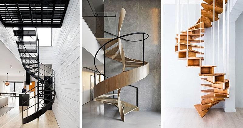 16 Modern Spiral Staircases Found In Homes Around The World   Steel Ladder Design For Home   Beautiful   Interior   Custom   Steel Staircase   Loft Ladder