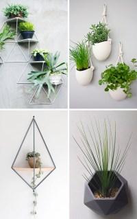 DIY - 10 Modern Wall Mounted Plant Holders | Designer Drains