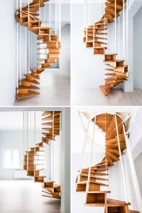 16 Modern Spiral Staircases Found In Homes Around The