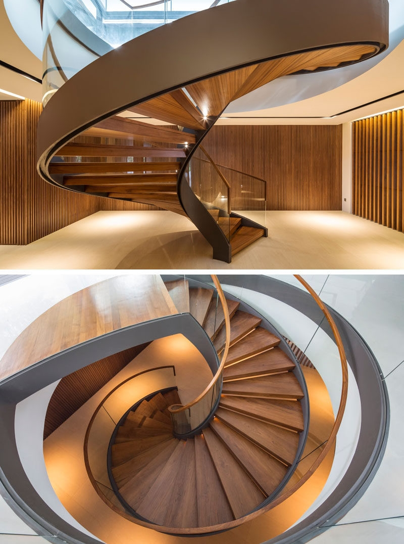 16 Modern Spiral Staircases Found In Homes Around The World | Installing Spiral Staircase To Basement | Steel | Stair Case | Handrail | Loft Staircase | Staircase Remodel