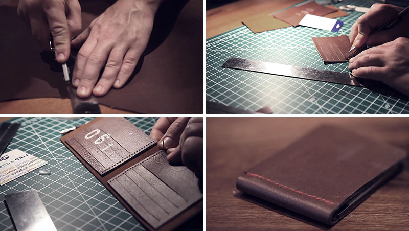 This tutorial for a DIY leather wallet teaches you how to create a simple, stylish and slim brown leather wallet that looks good and is functional.
