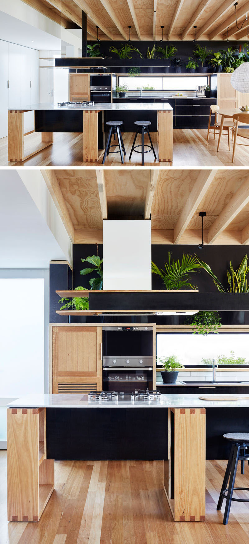 A Wood Extension Creates Extra Living Space In This