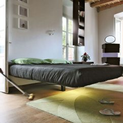 Kitchen Cabinets Ri Second Hand Units A Single Post Makes This Bed Appear To Float | Contemporist