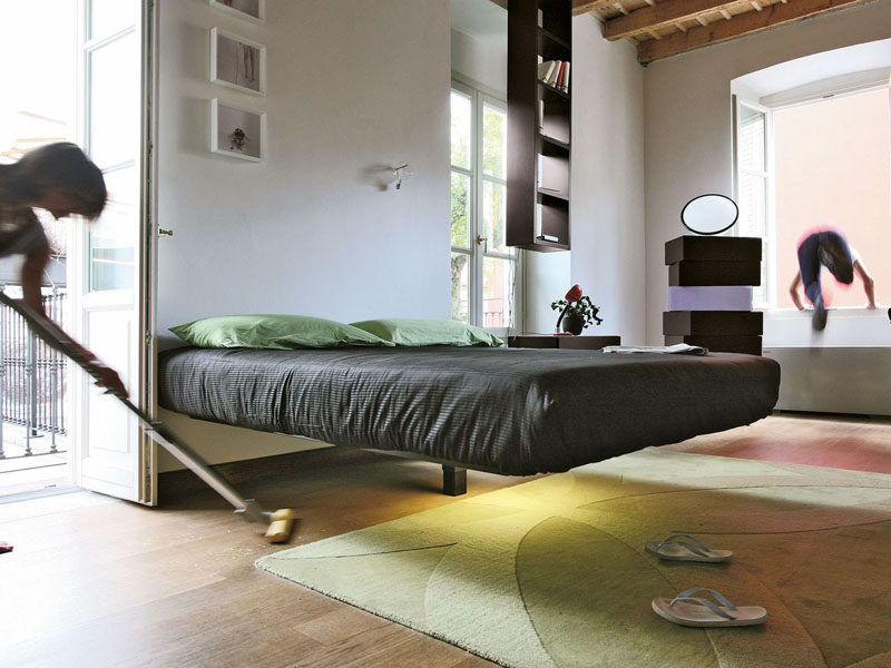 A Single Post Makes This Bed Appear To Float Contemporist
