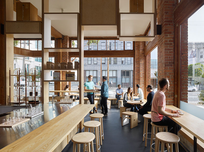 3d Brick Wallpaper Philippines Bohlin Cywinski Jackson Have Designed A New Coffee Shop In