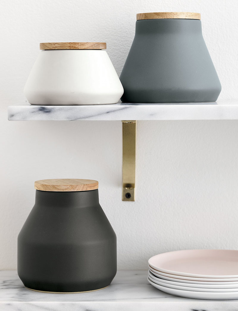 kitchen canisters ceramic pots and pans keep your food decor fresh with these 13 modern jars ...