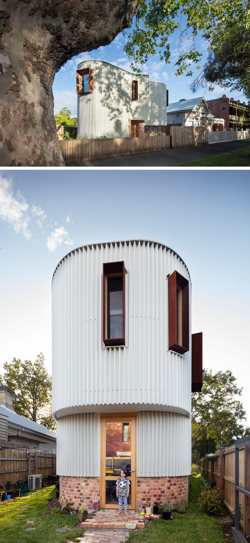 This Australian House Has A Curved Exterior Of Zig Zag