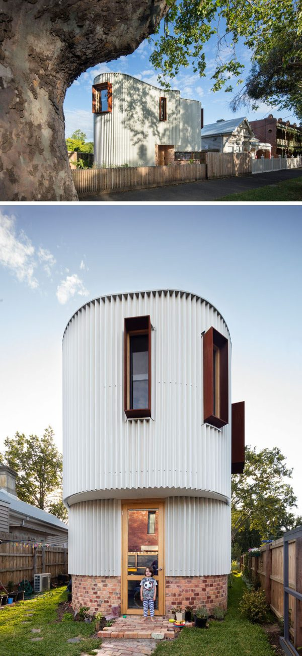 Australian House Curved Exterior Of Zig-zag