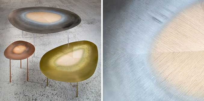 Design studio UUfie, have created The Echo Series, a collection of modern tables that have been designed using a technique of combining hardwood and metal.