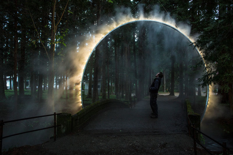 """Australian artist James Tapscott was commissioned by the Japan Alps Art Festival to great a site-specific art piece, which he named """"ARC ZERO - NIMBUS""""."""
