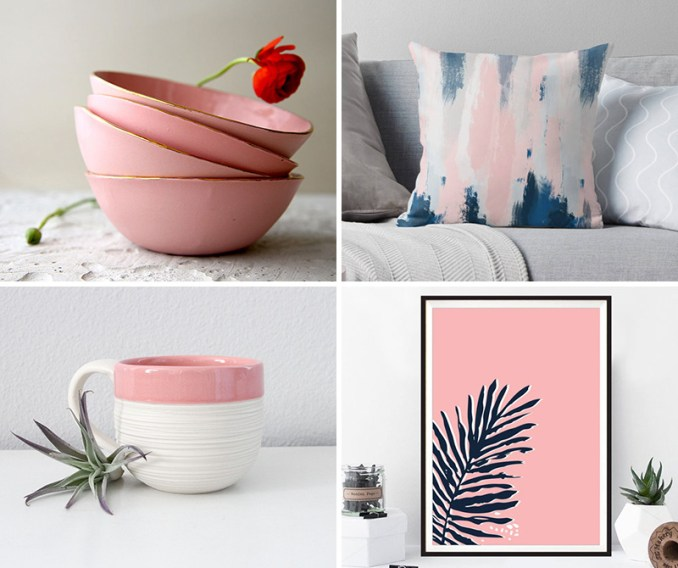 These blush home decor items are modern in design and appealing to look at.