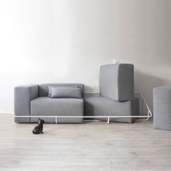 Steel Frame Sofa Inserts Foam A Simple Metal Contains The Six Cushions That Make Up This Seoul Based Designer Cho Hyung Suk Has Designed Modern Grey Couch Sits Within