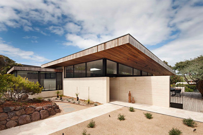 Rammed Earth And Timber Feature Throughout This Australian House  CONTEMPORIST