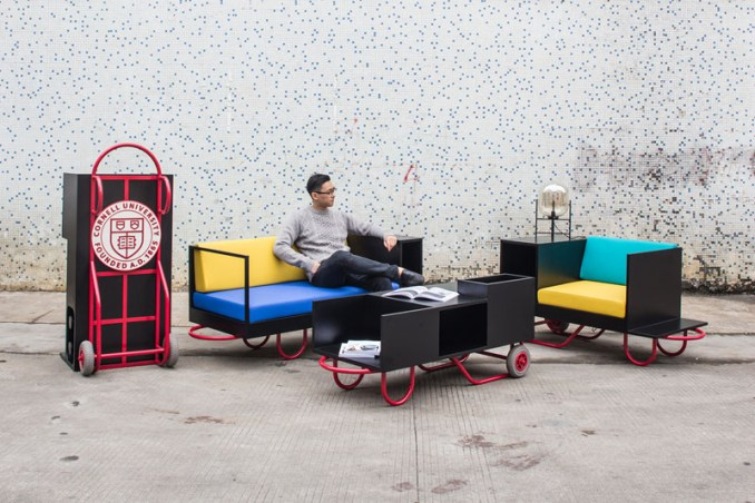 Made for various functions at Cornell University, this modern furniture line is colorful and portable.
